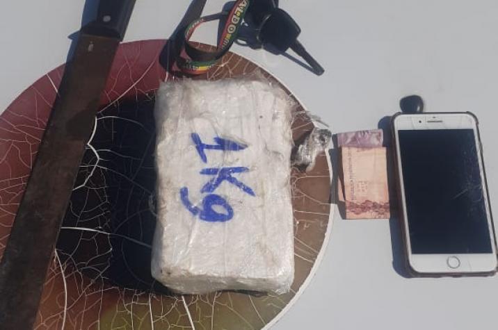 Criminosos atiram contra polícia no bairro São Marcos: um quilo de cocaína foi apreendido