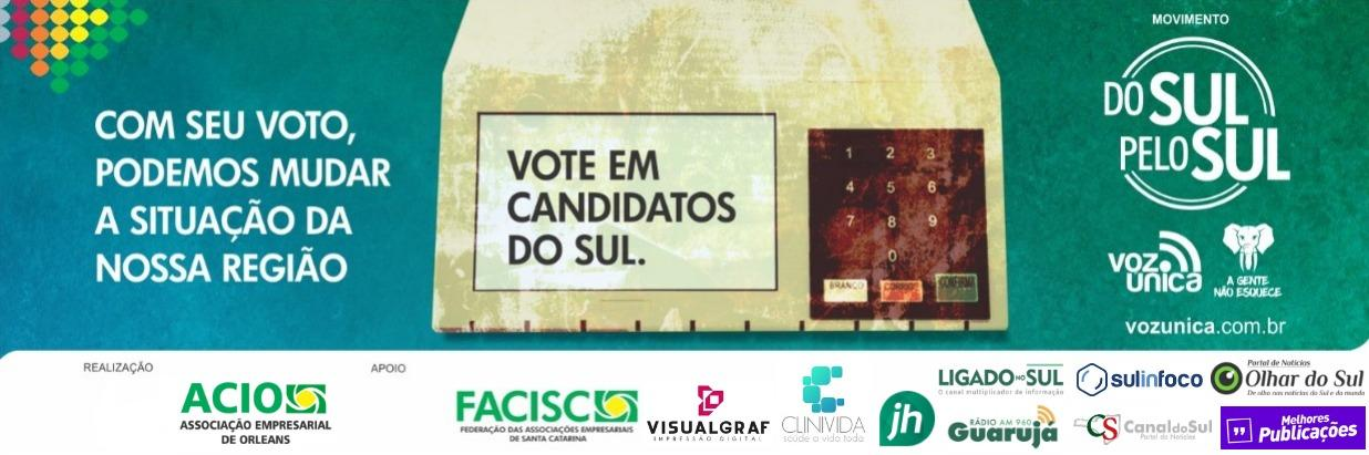 """Campanha """"Do Sul pelo Sul"""" busca voto regional e consciente"""