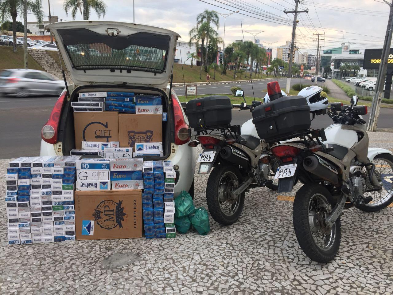 Carga de cigarros contrabandeados é apreendida em Criciúma