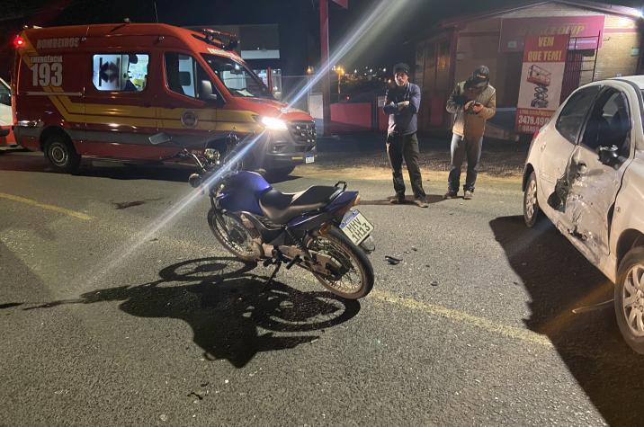 Acidente grave deixa motociclista ferido em Criciúma