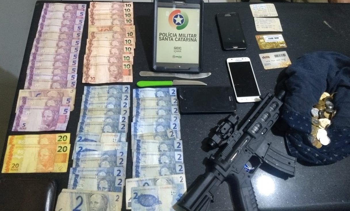 Assaltantes são presos pela Polícia Militar em Içara