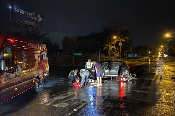 Acidente deixa motociclista gravemente ferido em Içara
