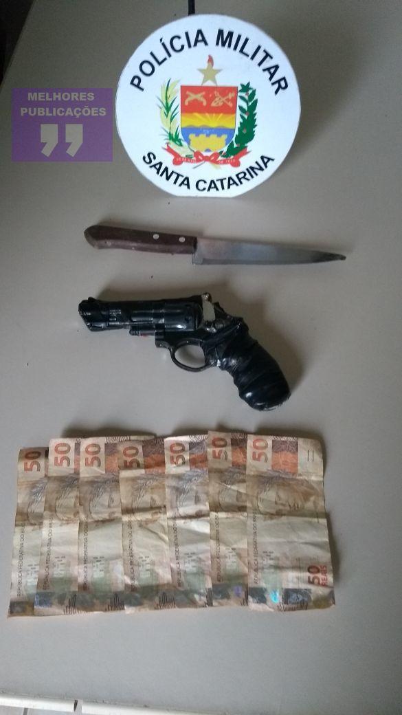 Assaltante é preso em flagrante