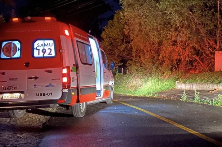 Em andamento: jovem morre em acidente de trânsito em Criciúma