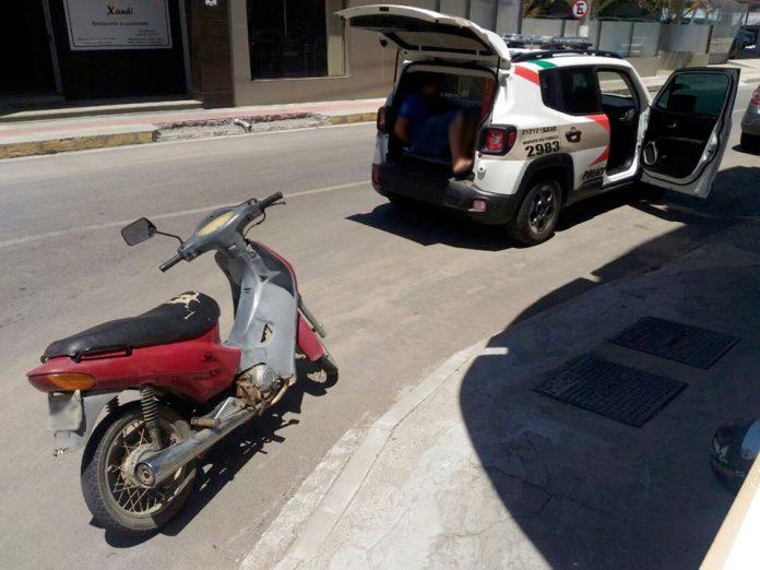 PM recupera motocicleta furtada