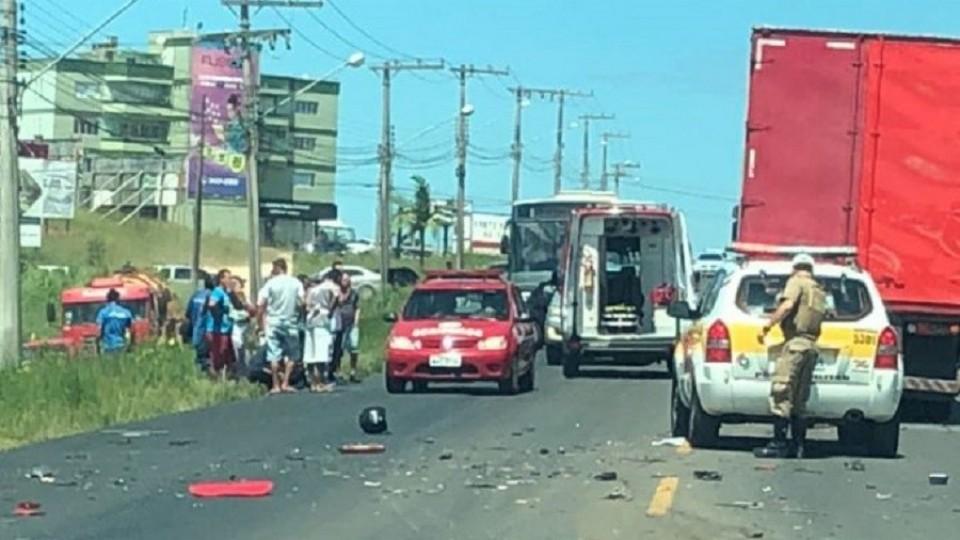 Motociclista morre em acidente na SC-445