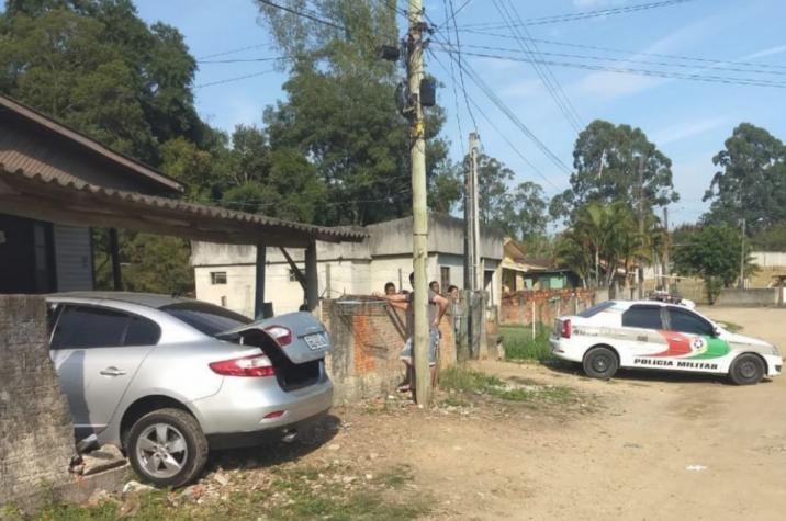 Durante abordagem, traficante tenta matar policial atropelado em Criciúma