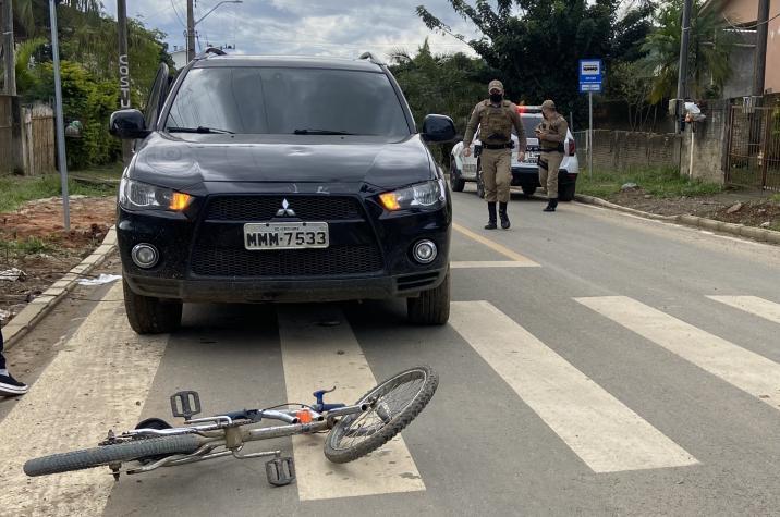 Criança é atropelada no bairro São Luiz em Criciúma