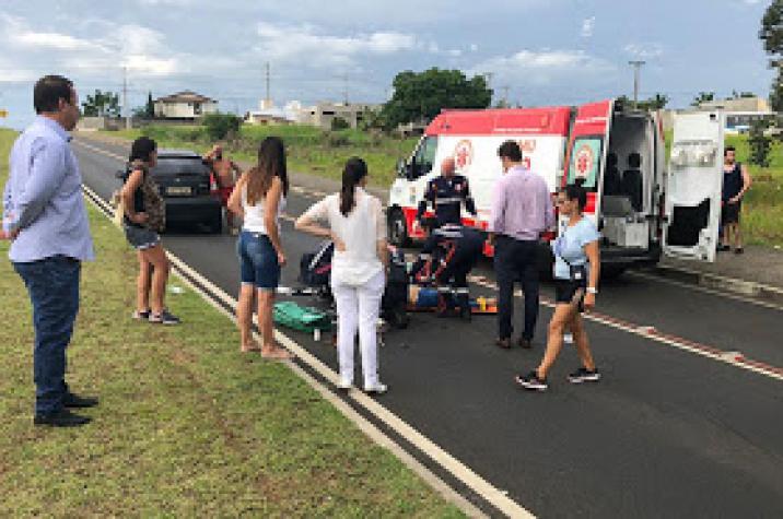 Ciclista morre atropelada na Via Rápida em Criciúma