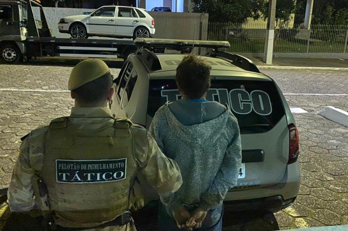 Tático prende criminoso foragido da Justiça em Criciúma