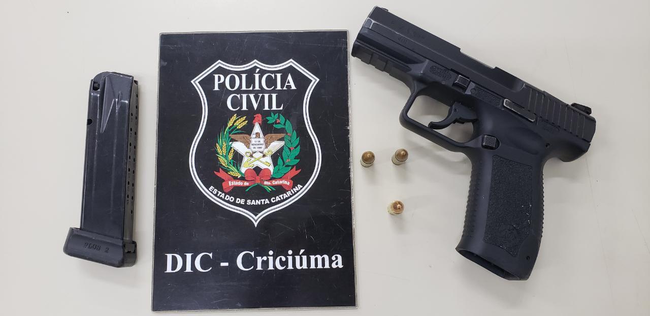 Bandido de 19 anos envolvido em seis homicídios é preso em Criciúma