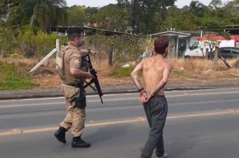 Após fugir da PM e capotar veículo, bandido é preso na Santa Luzia
