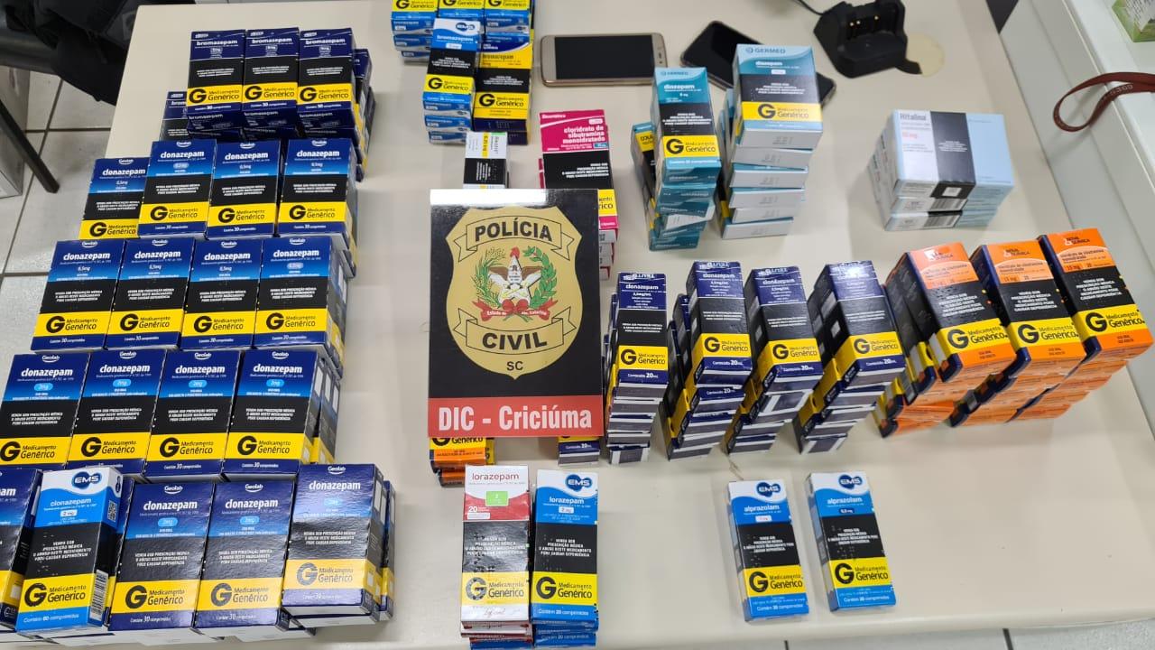 Polícia Civil prende donos de farmácia por venda criminosa de remédios em Criciúma