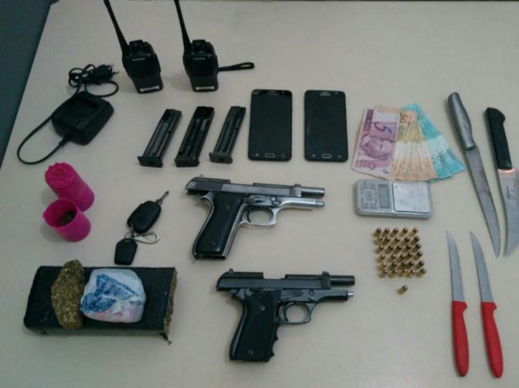 Polícia Militar prende traficantes e apreende armas de fogo em Criciúma