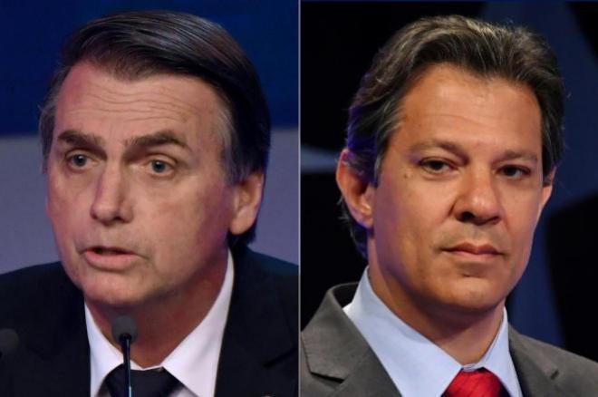 Pesquisa Ibope para presidente: Bolsonaro tem 59% dos votos válidos e Haddad, 41%