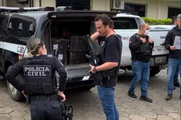 Feriado sem maconha: Polícia Civil apreende cerca de duas toneladas de maconha em Criciúma