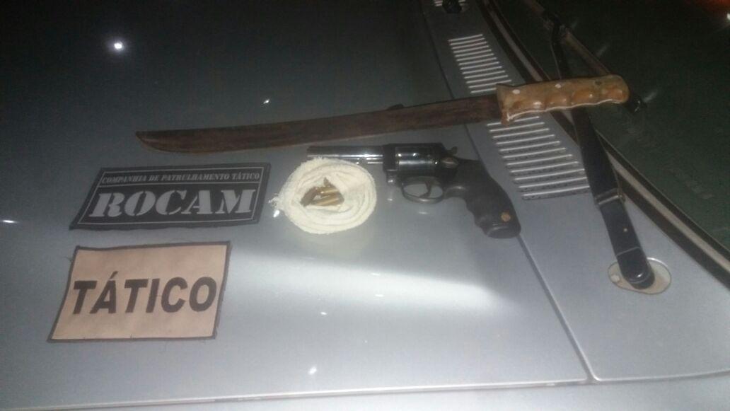 Polícia Militar apreende arma de fogo em Criciúma