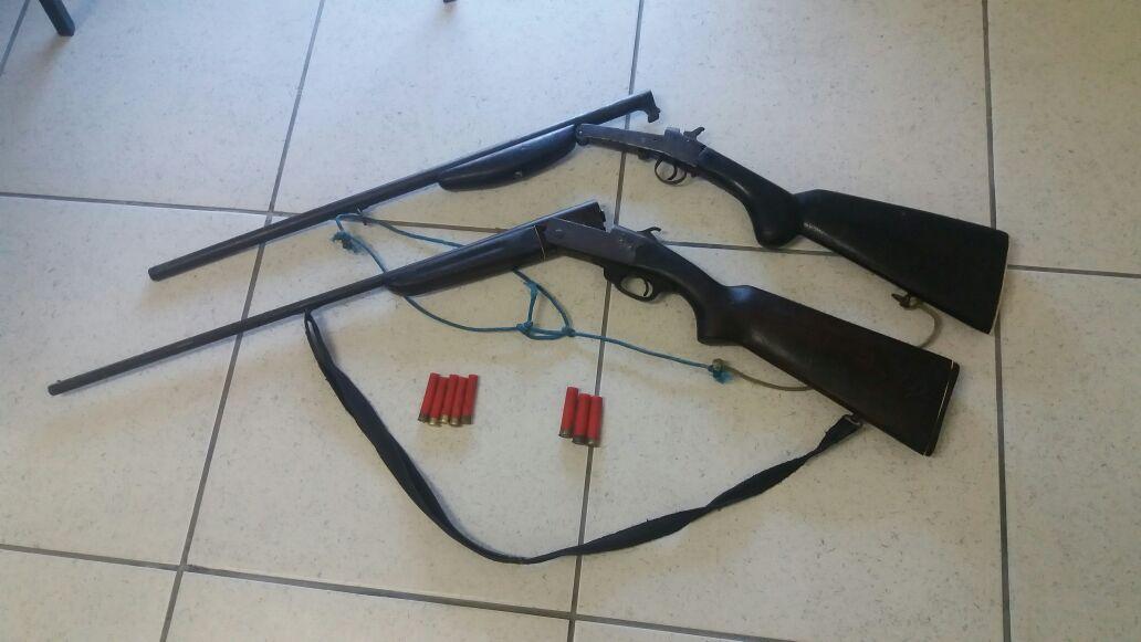 Duas espingardas são apreendidas pela PM em Criciúma