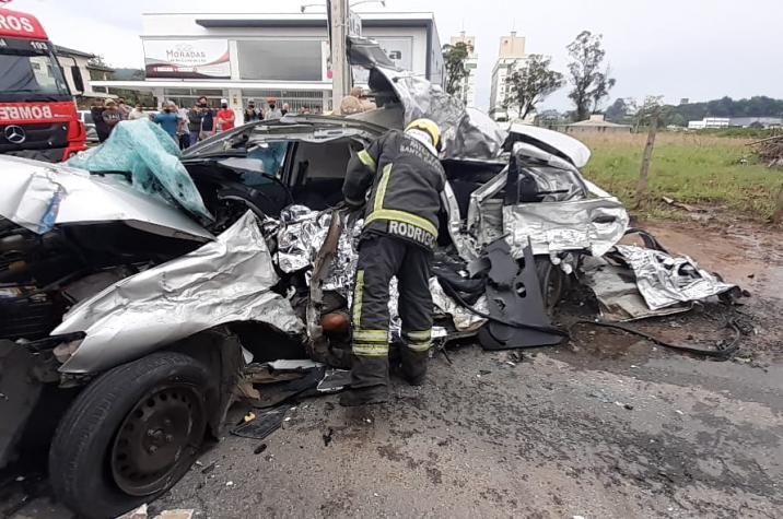 Homem morre em acidente grave em Criciúma