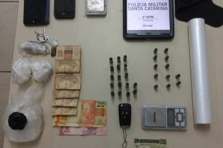 PM prende traficantes e apreende drogas em Criciúma