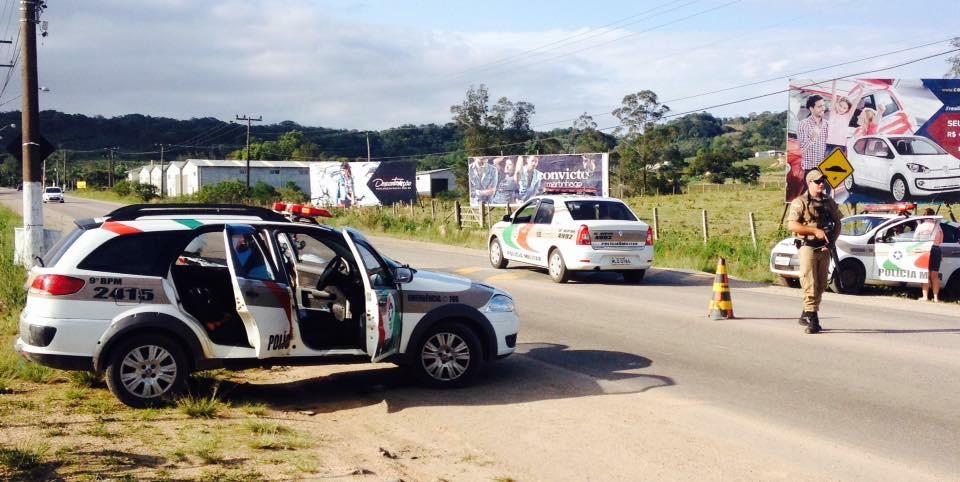 Durante barreira da Polícia Militar, estuprador é preso em Criciúma