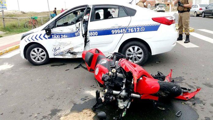 Motociclista morre em acidente