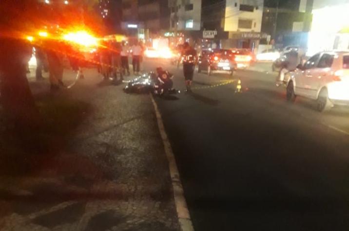Em andamento: criança morre atropelada no Centro de Criciúma
