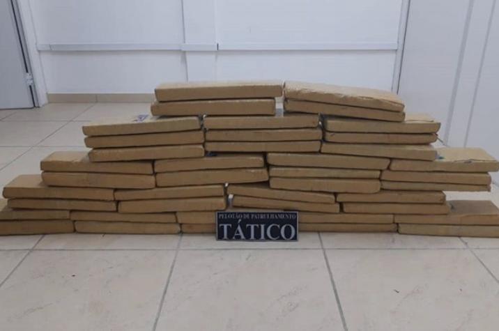 Soldados da PM apreendem cerca de 50kg de maconha em Criciúma