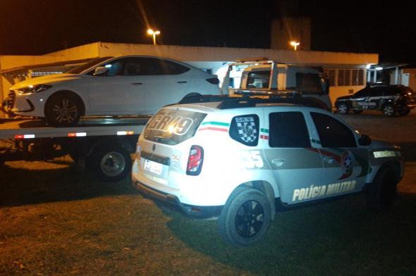 Polícia Militar recupera veículo tomado de assalto em Críciúma
