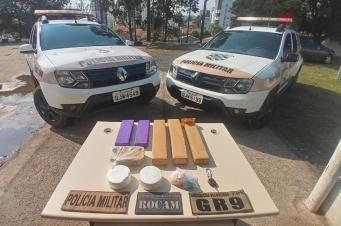 Polícia Militar prende traficante e apreende drogas no bairro Quarta Linha, em Criciúma