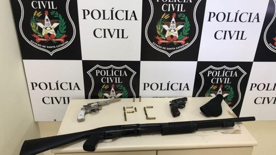 Polícia Civil apreende armas de fogo no Rinção