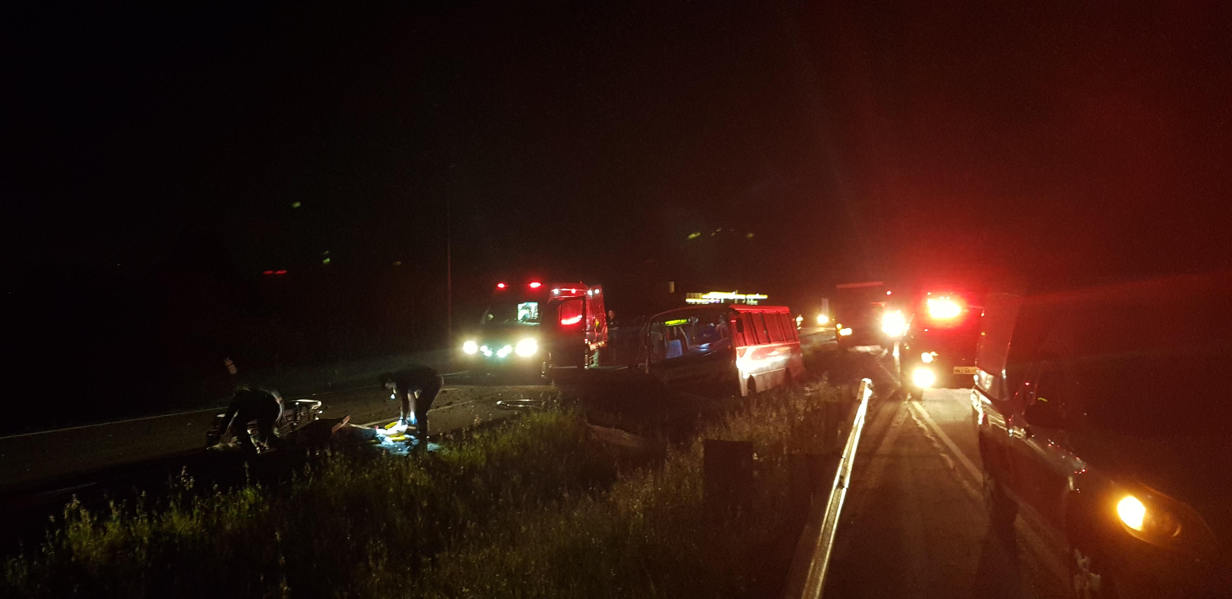 Acidente deixa sete pessoas feridas em Criciúma