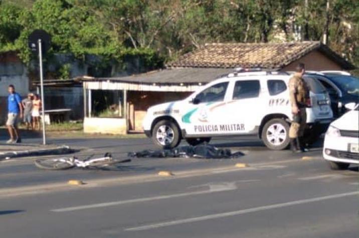Ciclista morre atropelada na Santa Luzia