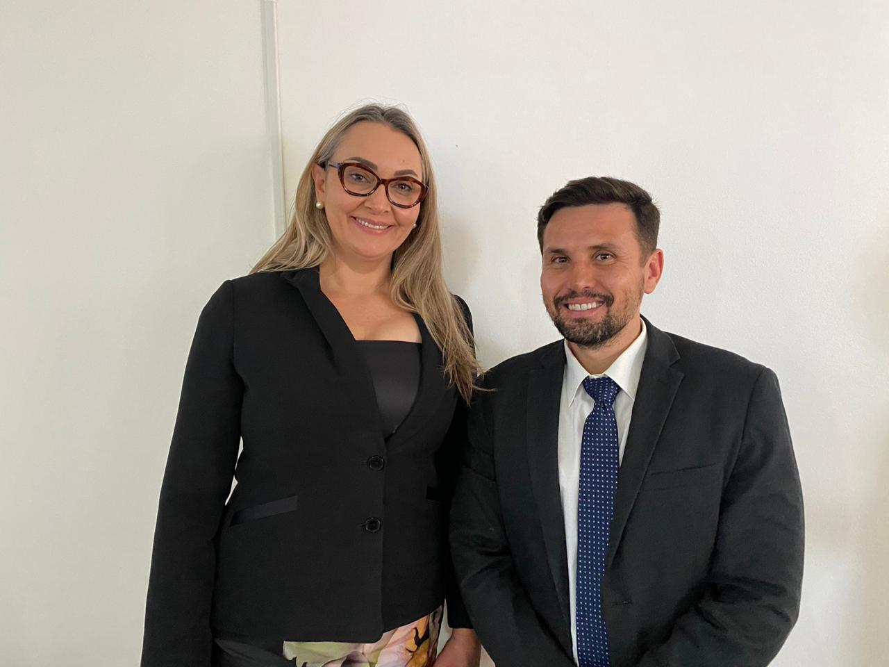 Delegado Márcio Neves é recebido pela vice-governadora de Santa Catarina