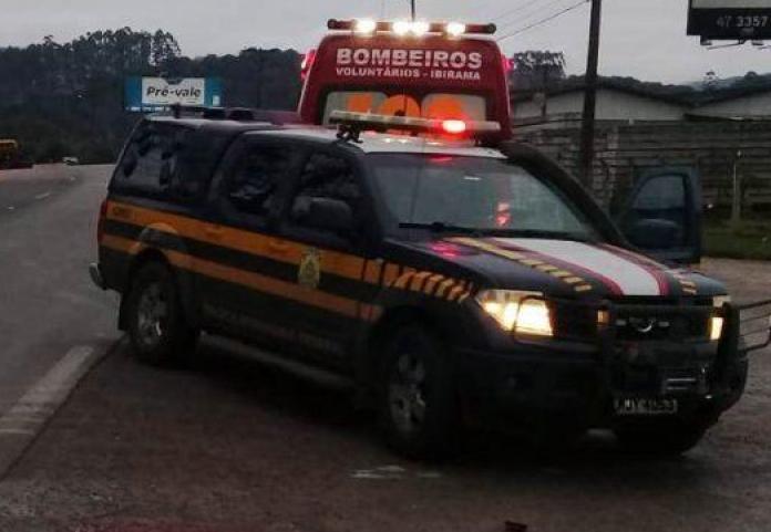 Socorrista do Samu morre em acidente de trânsito na BR-470 no Alto Vale
