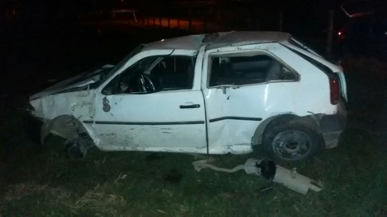 Após furtar e capotar veículo, bandido é preso pela Polícia Militar