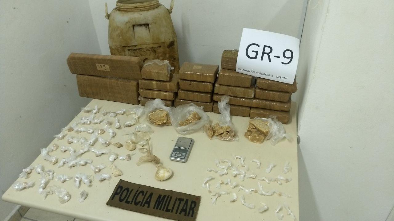 Polícia Militar apreende quantia significativa de drogas em Criciúma